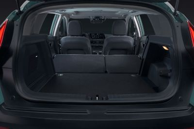 Trunk of the all-new Hyundai BAYON with up to 411 liter storage space.