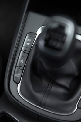The controls for the front seat heating ventilation in the new Hyundai Kona.