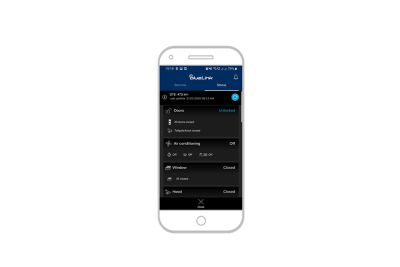 screenshot of bluelink app on the iPhone: vehicle status